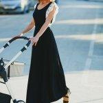 φορεμα θηλασμου Black maxi