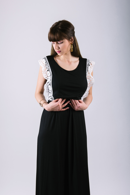 2f0d0f5c7036 Φορεμα θηλασμου Black maxi
