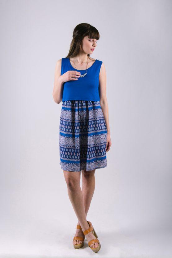 Φορεμα θηλασμου ocean blue