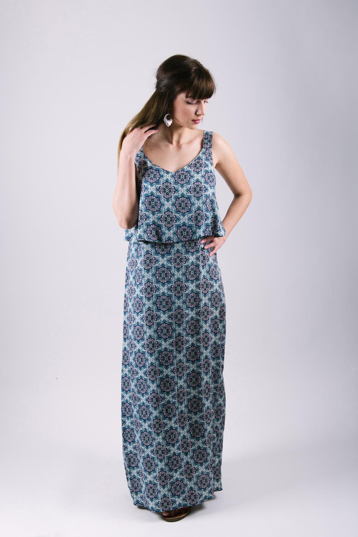 φόρεμα θηλασμού boho blue