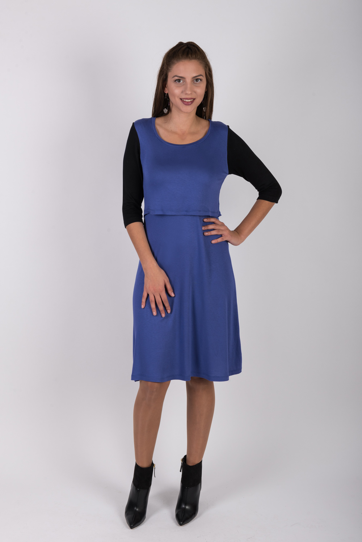 φορεμα θηλασμου Color block