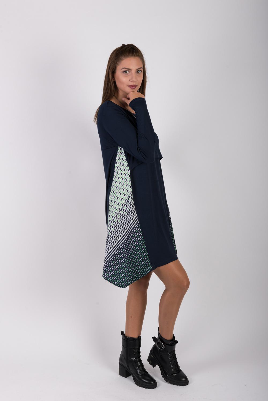 φορεμα θηλασμου triangle blue