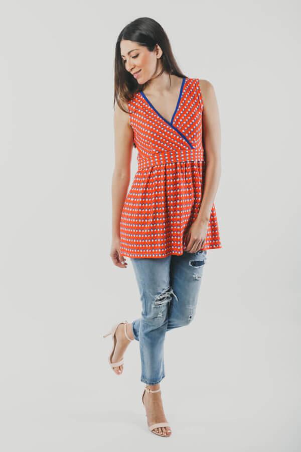 μπλουζα θηλασμού Orange fresh