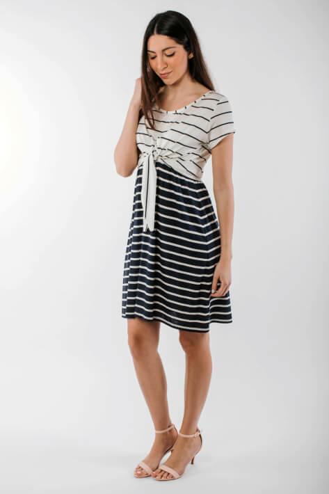 φορεμα θηλασμου navy stripes