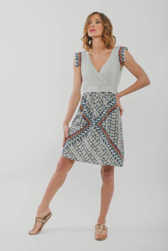 φορεμα θηλασμου grey angle