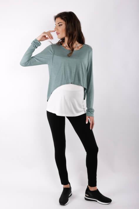 μπλουζα θηλασμου double colour top