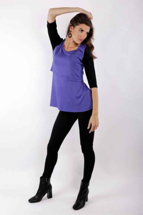 μπλουζα θηλασμου purple chic