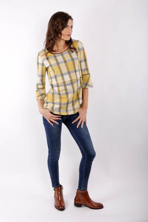 Μπλουζα θηλασμου yellow plaid