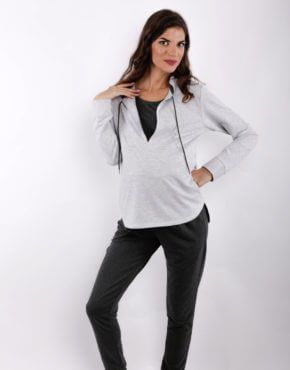 Μπλούζα θηλασμού easy runMaternity and Nursing Sweatshirt Easy