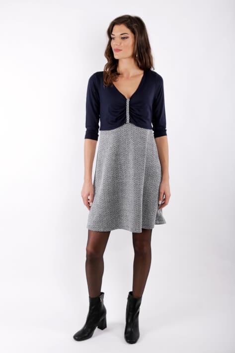 φόρεμα θηλασμού Blue Knitted