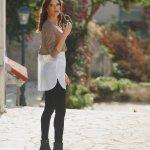 Κολάν total black και μπλούζα shirt layer